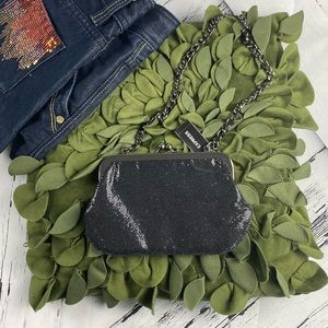 NWT Express Bags Shiny Fabric Evening Prom Clutch
